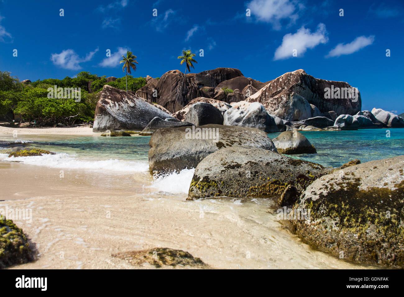 Strand in den Bädern Stockfoto