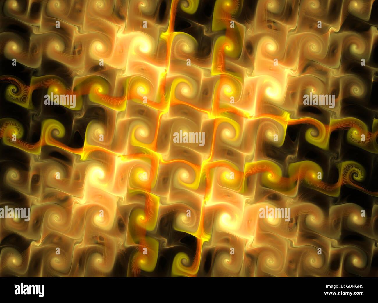 Abstrakt Fantasy gelb strukturierten Hintergrund. Computer generierte Fraktale in der gelben Farbe Stockbild