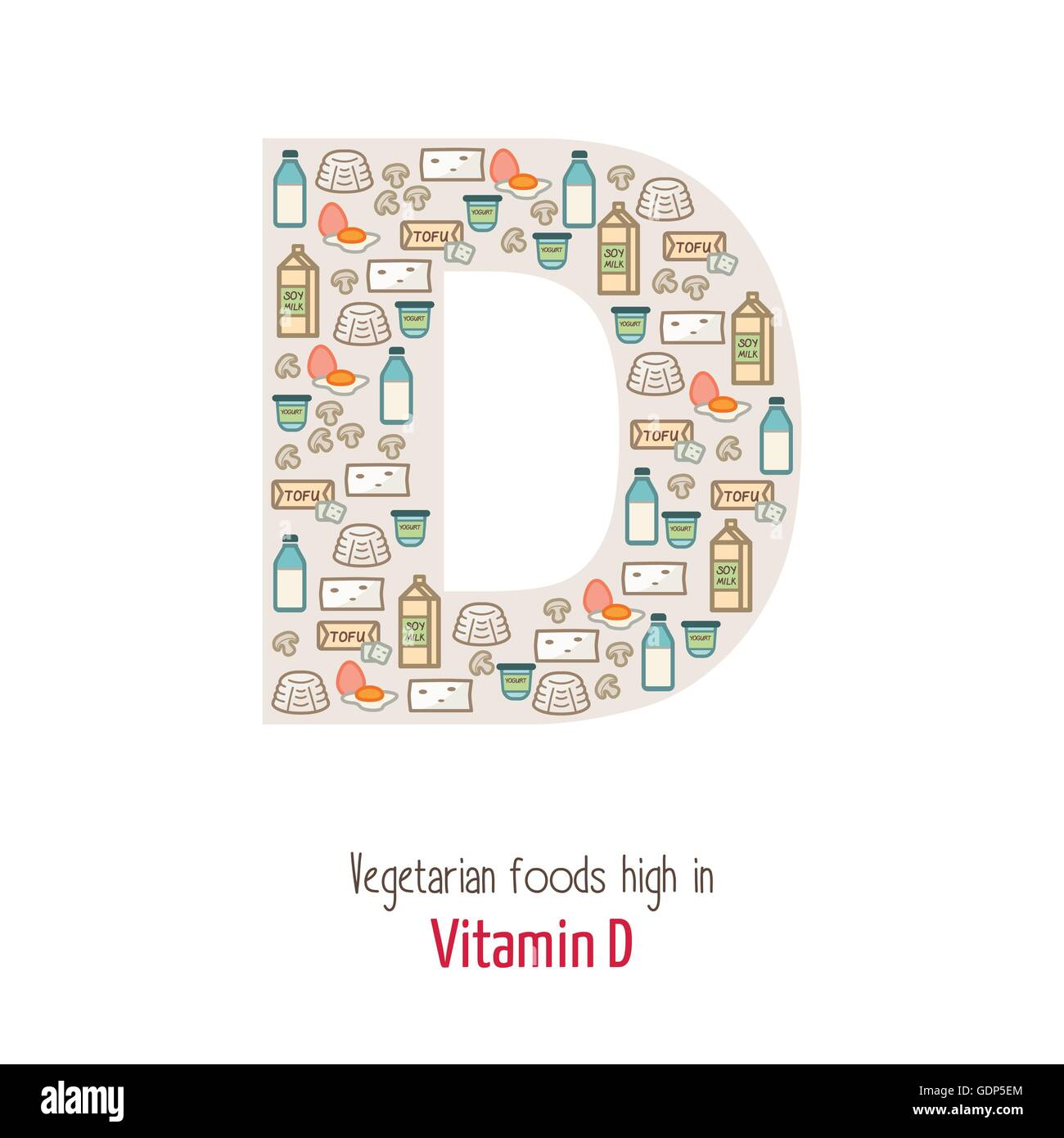 Vgetarian Lebensmittel Höchsten Vitamin D D Brief Form Ernährung