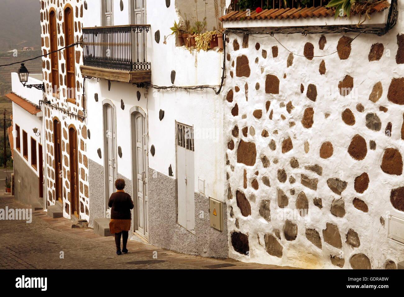 Santa Lucia, Bergdorf, Dorf, eines Gebirges, Bergregion, Zentrum, Gasse, Architektur, Gasse, Steinhaus, Romantik, Stockbild
