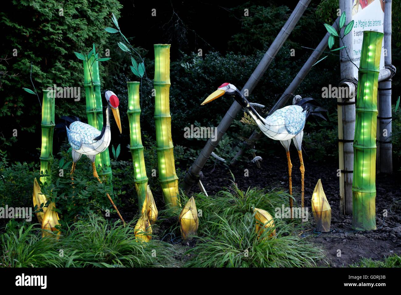 Storch Und Bambus Laternen Jedes Jahr Der Botanische Garten In