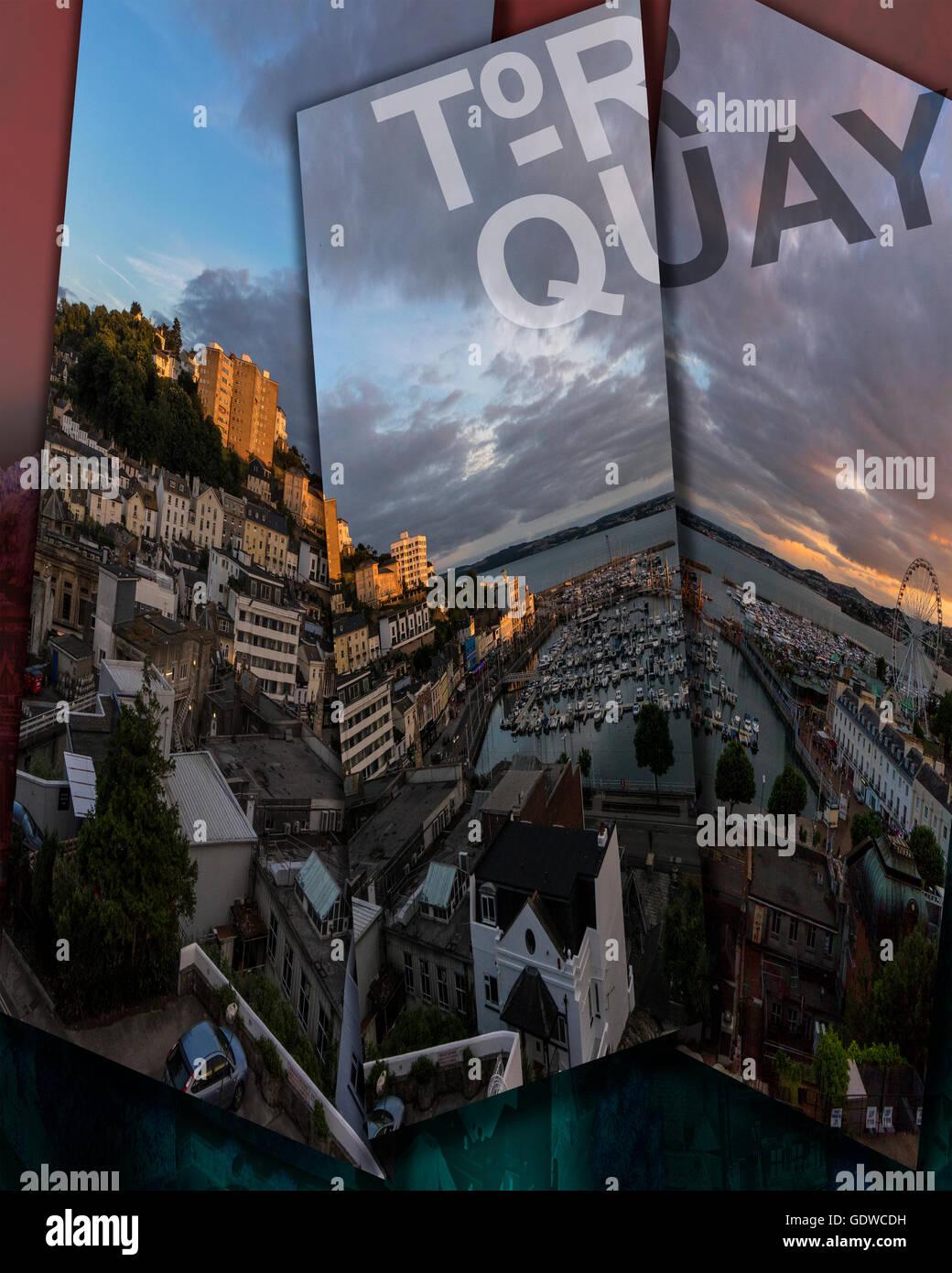 Tourismus-Konzept: Torquay - Devon, Großbritannien Stockbild