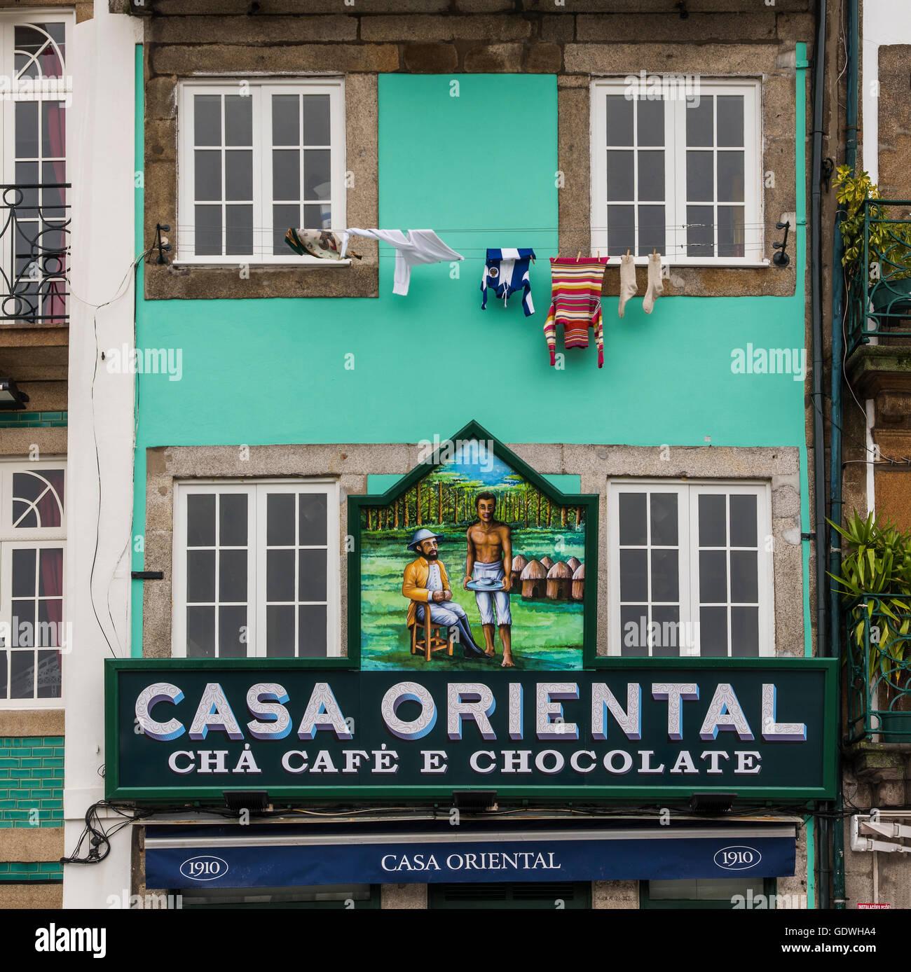Casa Oriental Grocery Store, Porto, Portugal Stockbild
