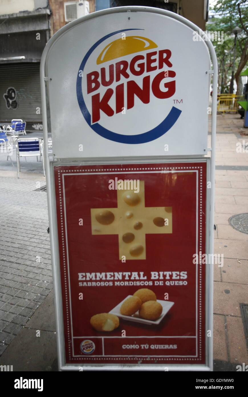 Burger King mit Schweizer Käse in der Stadt Santa Cruz de Tenerife auf der Insel Teneriffa auf die Inseln der Stockbild