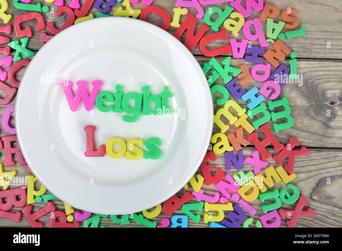 Idea Word On White Plate Stockfotos & Idea Word On White Plate ...