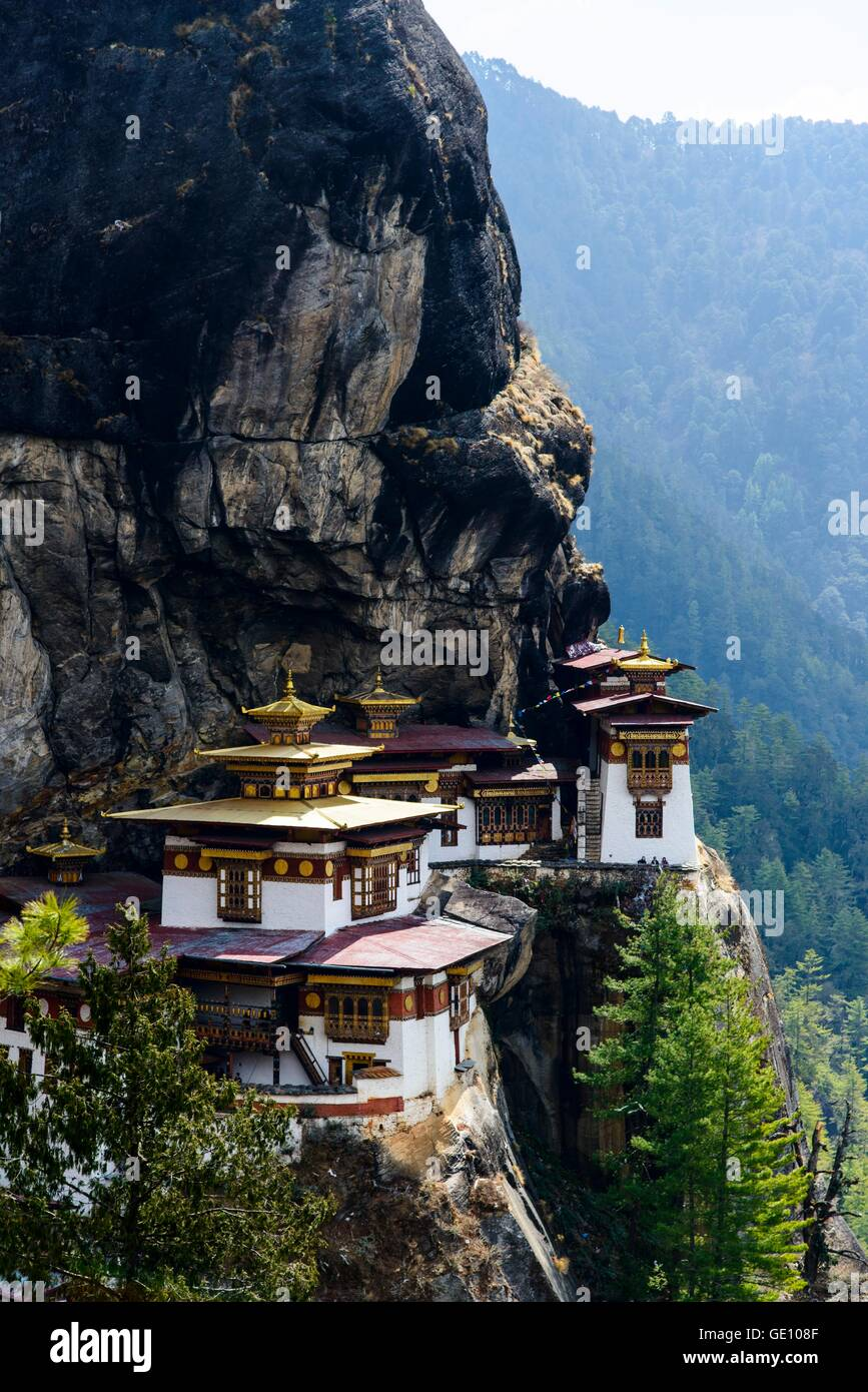 Geographie/Reisen, Bhutan, Paro, der Tiger Nest, Additional-Rights - Clearance-Info - Not-Available Stockfoto