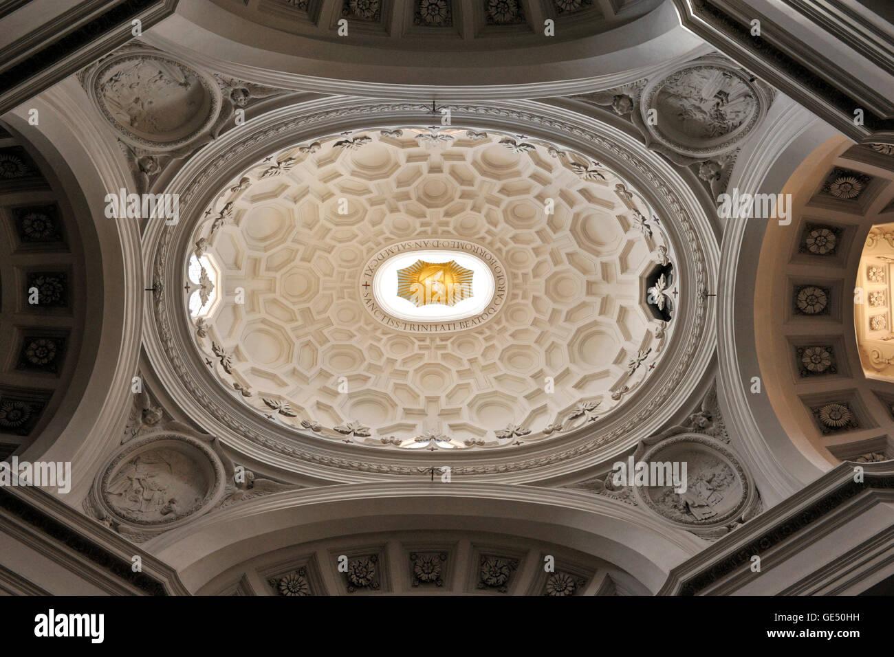 Italien, Rom, Kirche San Carlo Alle Quattro Fontane, Decke Stockbild