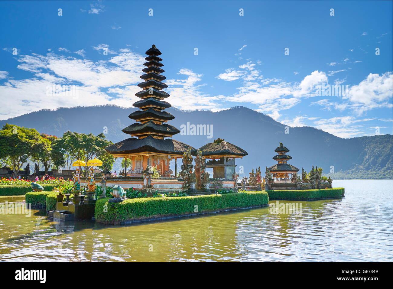 Pura Ulun Danu Tempel am Bratan See, Bali, Indonesien Stockbild