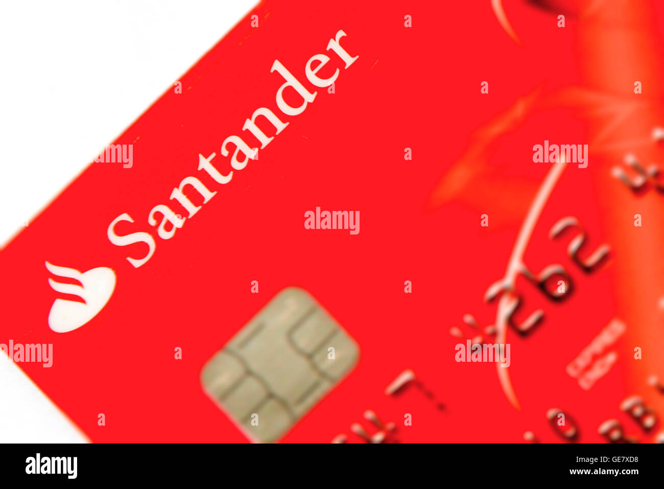 Santander Bank Karte Detail Stockfoto Bild 112041812 Alamy