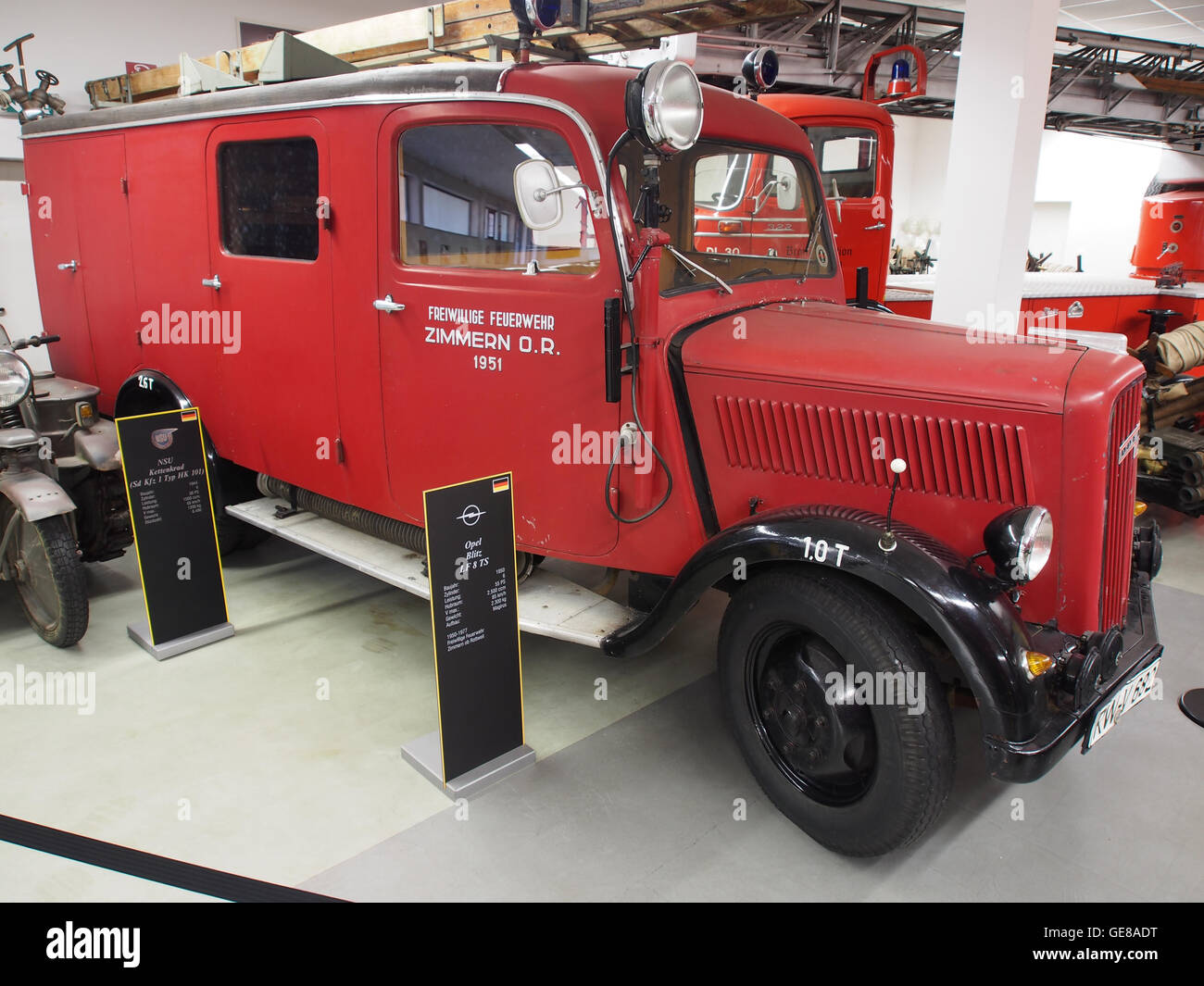 1950 opel blitz lf 8 ts feuerwehr zimmern or pic1 stockfoto bild 112051236 alamy. Black Bedroom Furniture Sets. Home Design Ideas