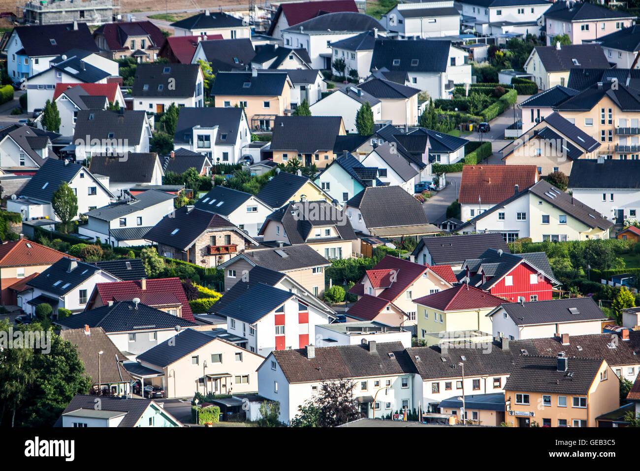 Familie Häuser und Wohnanlagen, Wohnanlage, Wohngegend, Remagen, Deutschland Stockbild