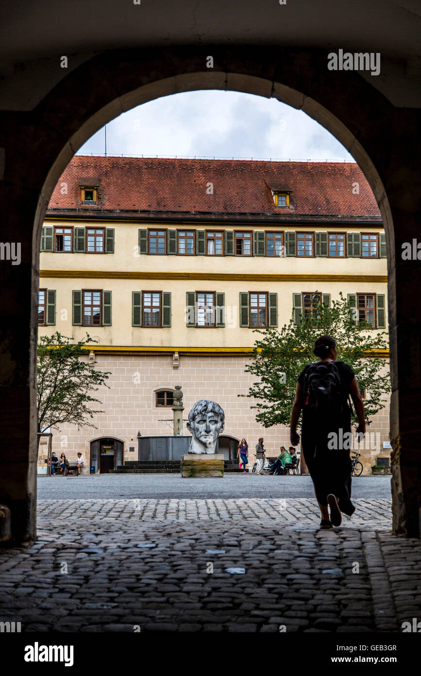Alte Stadt Tübingen, Schloss Hohentübingen, Teil der Universität, Museum alte Kulturen, Baden-Württembergische, Stockbild