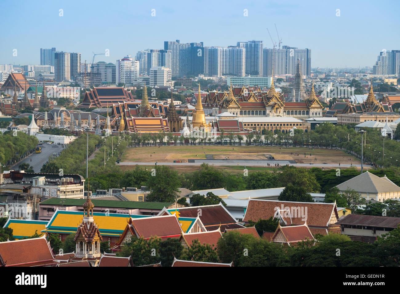 Die Skyline Bangkoks und Stadtbild von Bangkok die Hauptstädte von Thailand. Stockbild