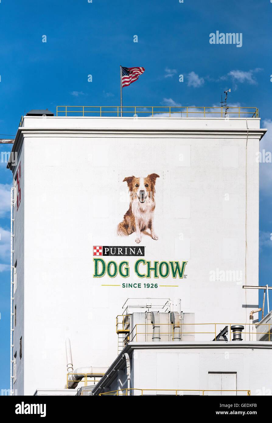 Purina Hundefutter Anlage, Colorado, USA Stockbild