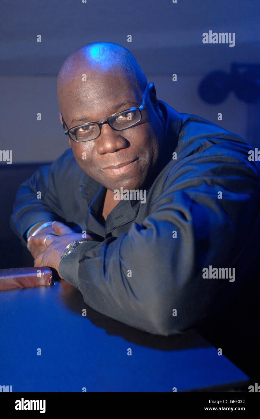 legendäre UK DJ Carl Cox am neuen Sache Club- und Veranstaltungsort im 02 Dome London abgebildet.  20 09 2008 Stockbild