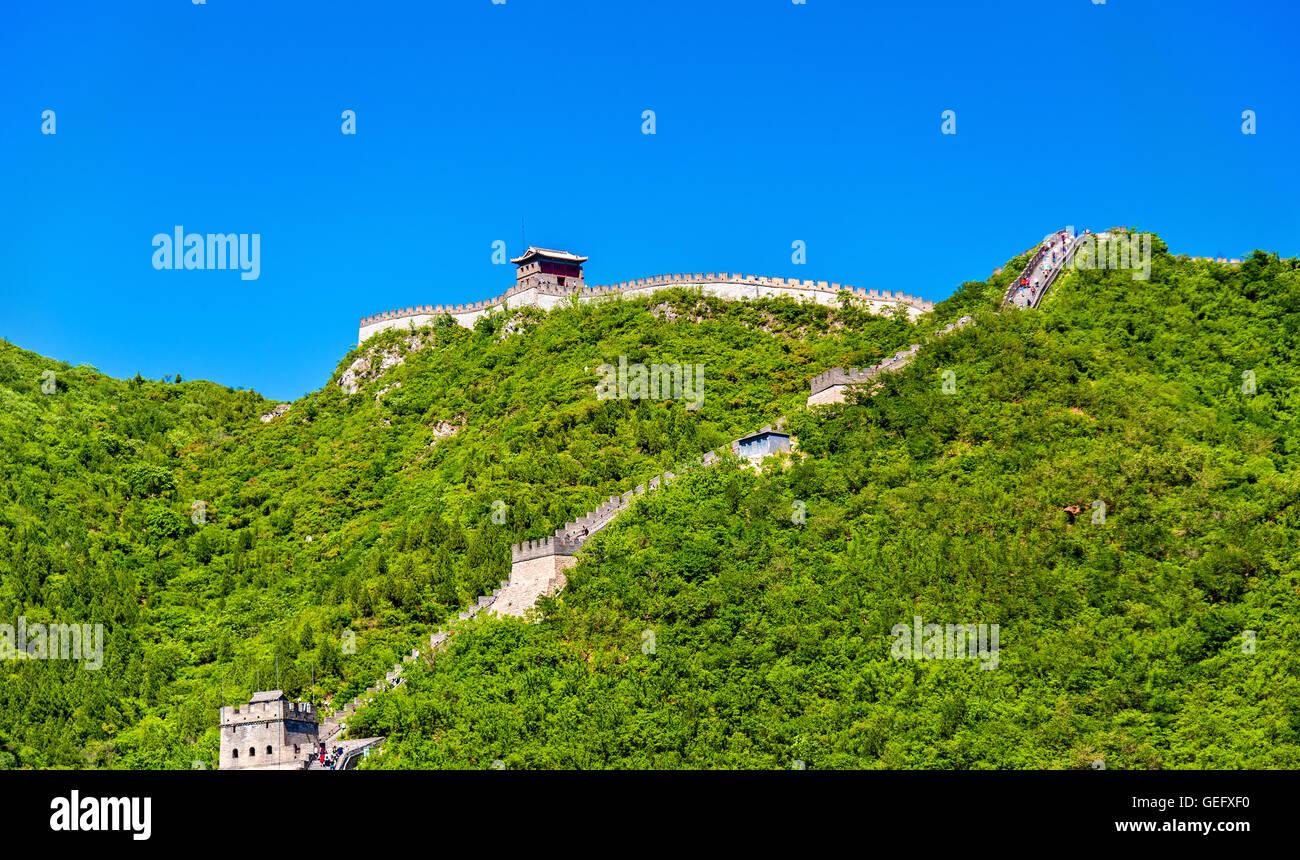 Die chinesische Mauer bei Juyongguan - Beijing Stockbild