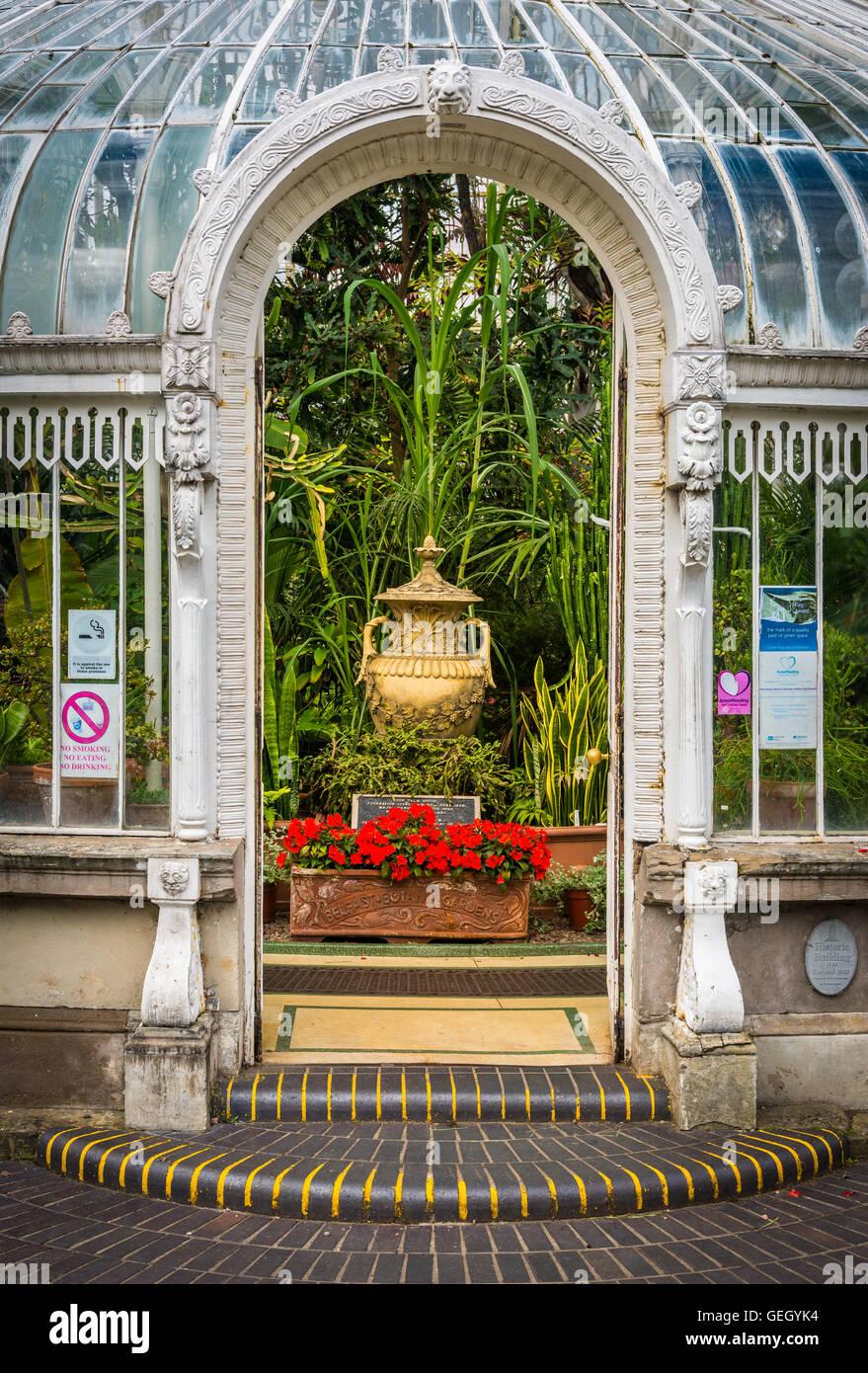 Haustür Eingang haustür eingang in das palmenhaus in belfast berühmten botanischen