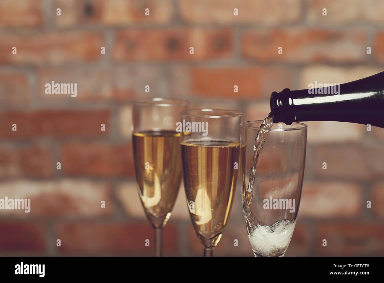 Champagner Stockfoto