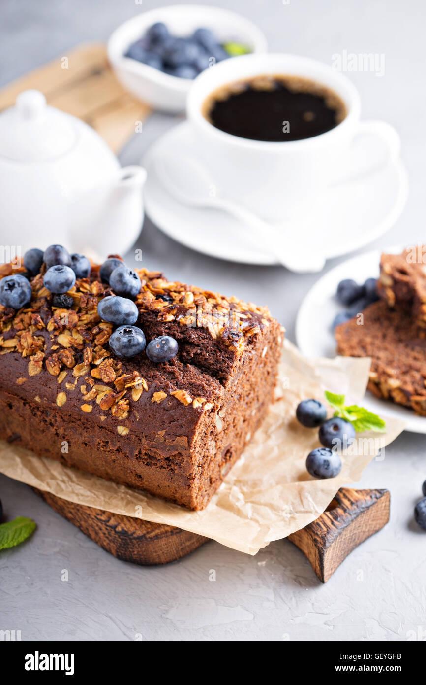 Schokolade Vollkorn schnelles Brot Stockbild