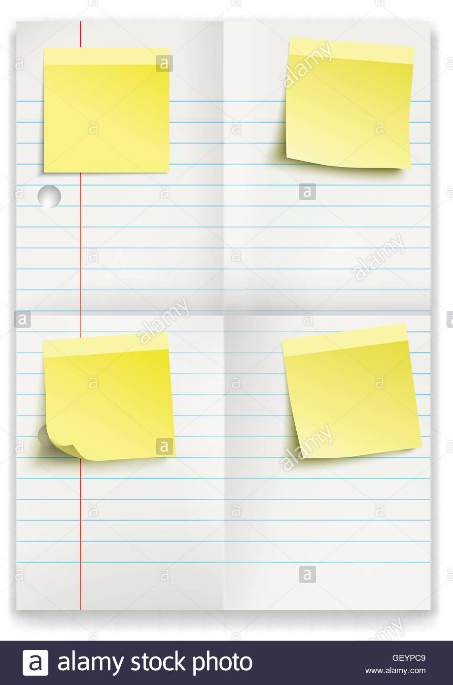 Lined Paper Folded Stockfotos & Lined Paper Folded Bilder - Alamy