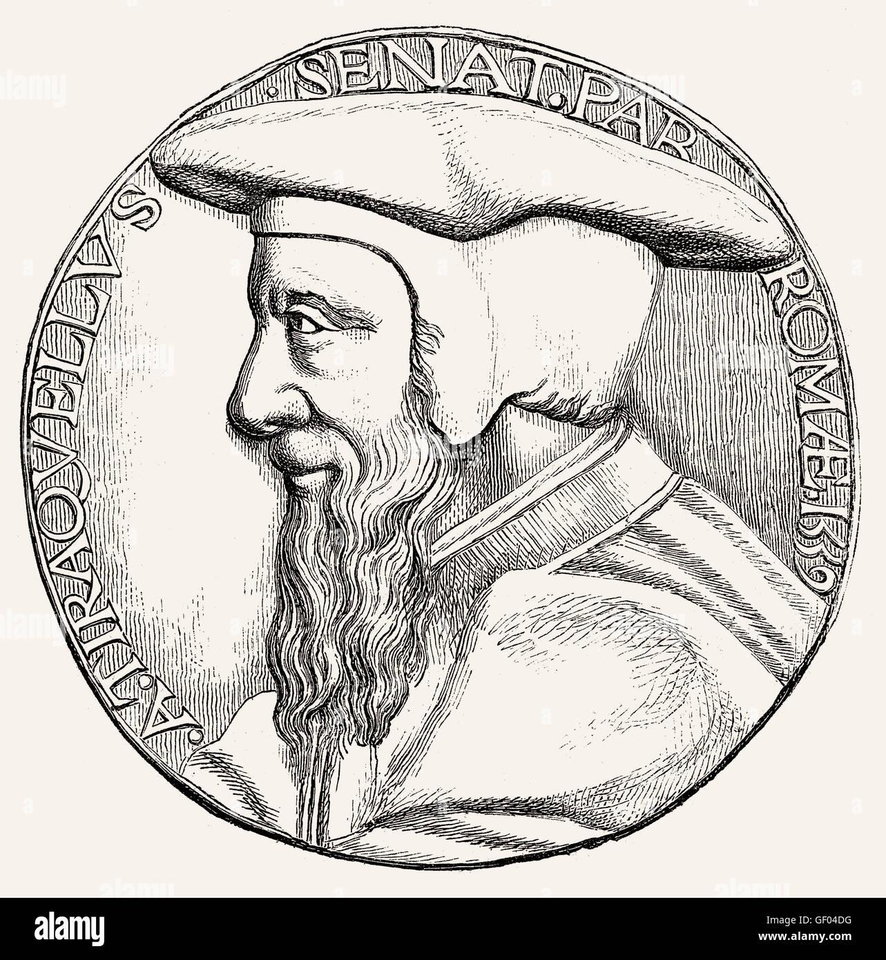 André Tiraqueau oder Andreas Tiraquellus, 1488-1558, ein französischer Jurist und Politiker Stockbild