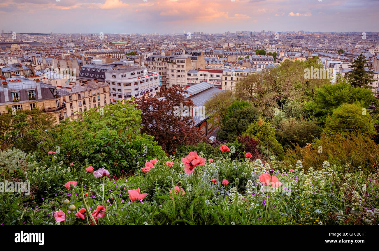 paris skyline stockfotos paris skyline bilder alamy. Black Bedroom Furniture Sets. Home Design Ideas