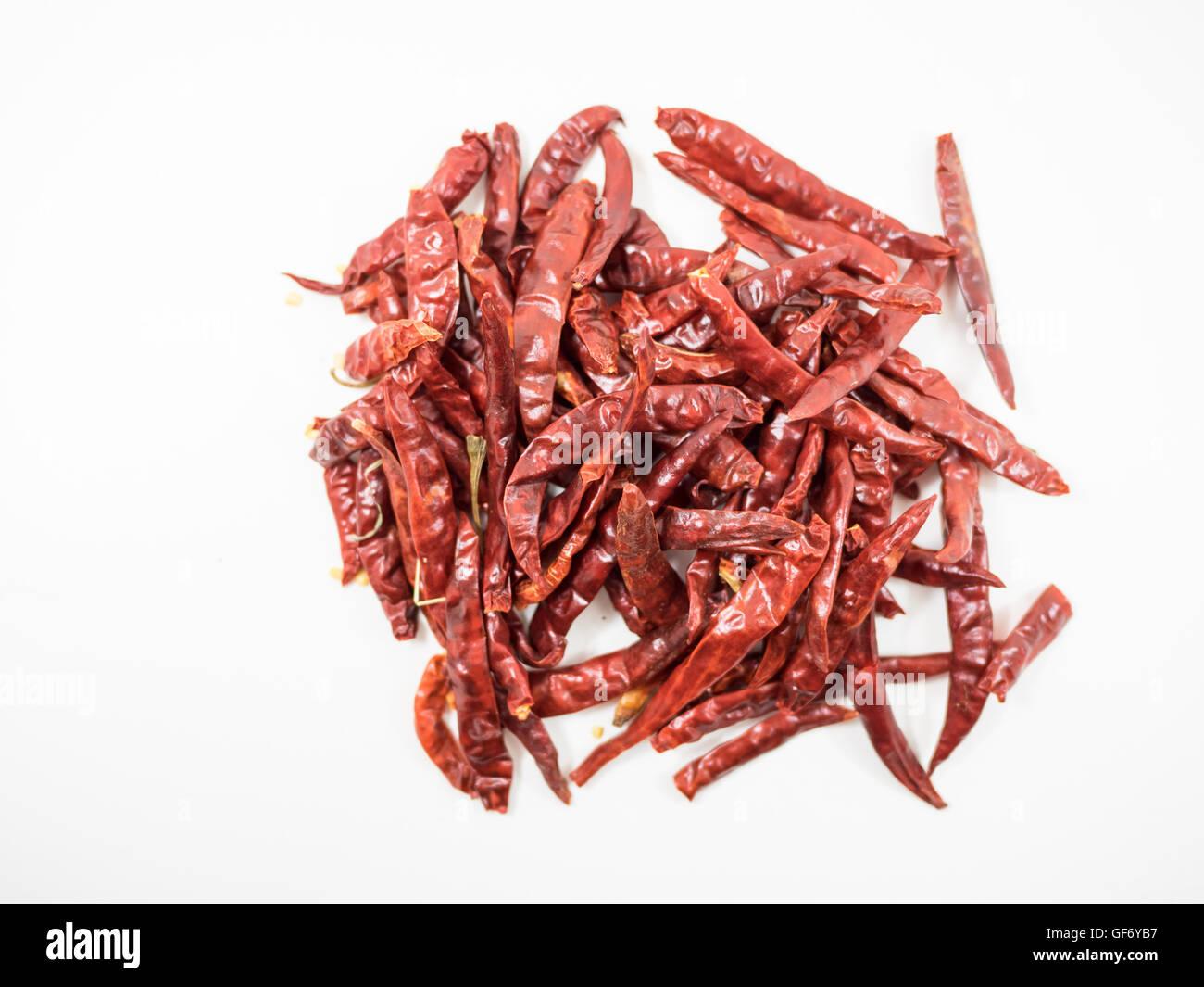 trockene Chili essen Kraut Heilpflanzen würzen Zutat Aroma würzen Guinea-Pfeffer Stockbild