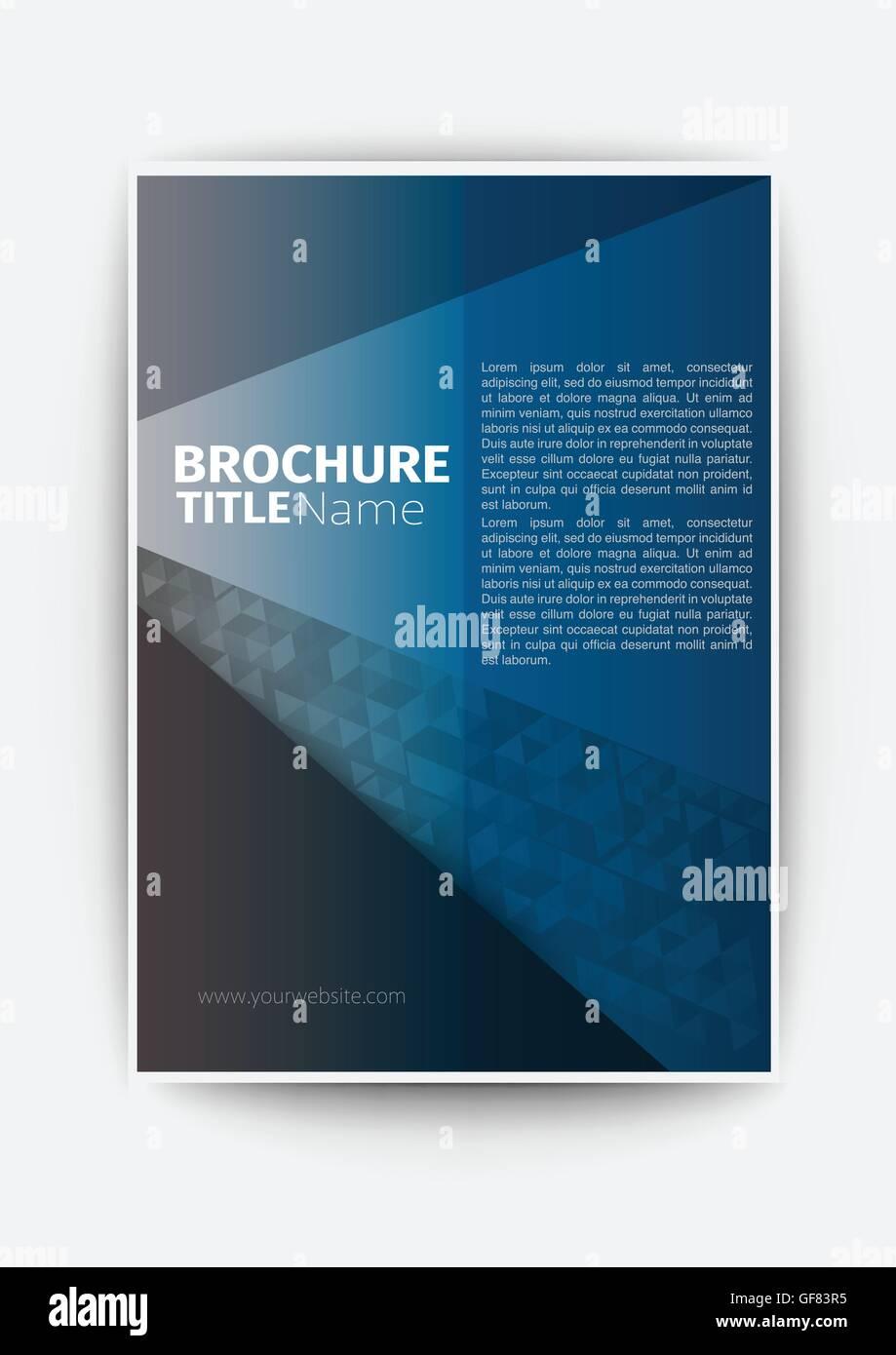 dunkel blau moderne Vektor abstrakte Broschüre Buch Flyer Design ...