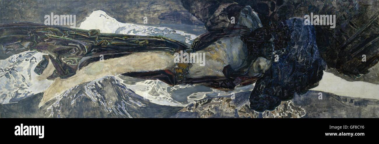 Mikhail Vrubel - Flying Demon Stockbild