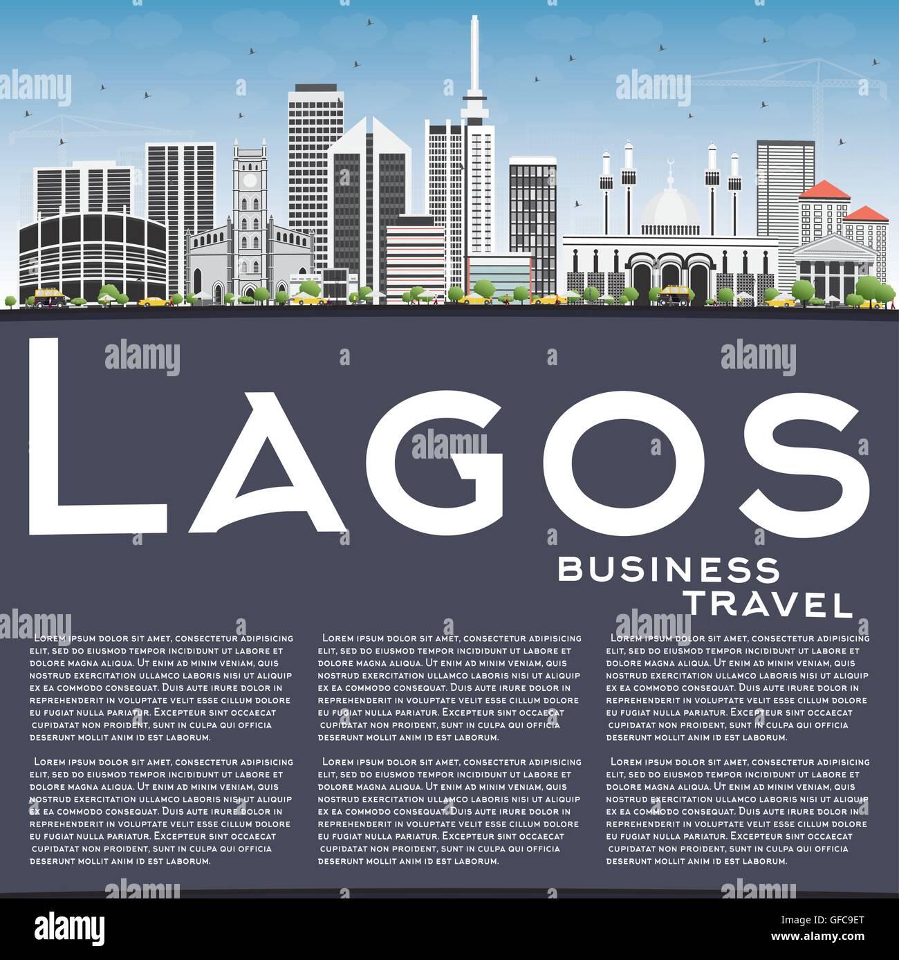 Lagos Nigeria Cityscape Stockfotos & Lagos Nigeria