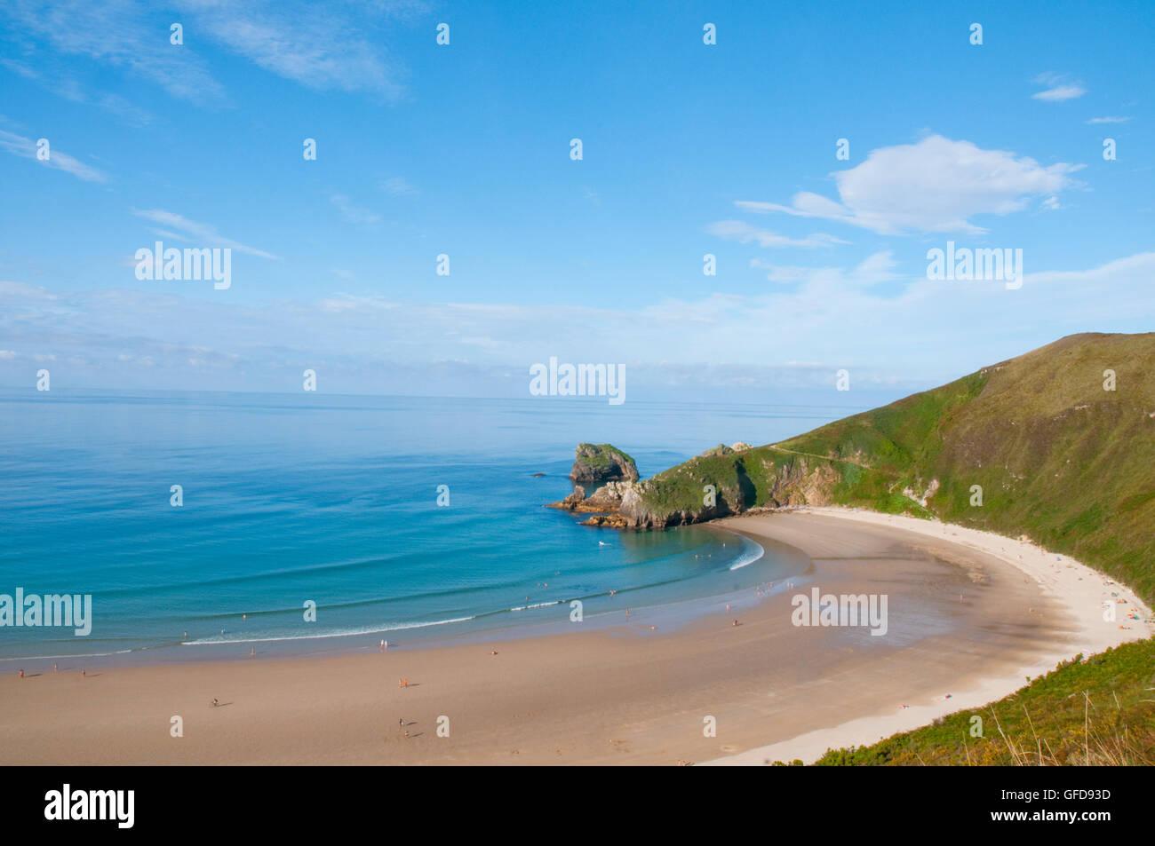 Torimbia Strand. Niembro, Asturien, Spanien. Stockbild