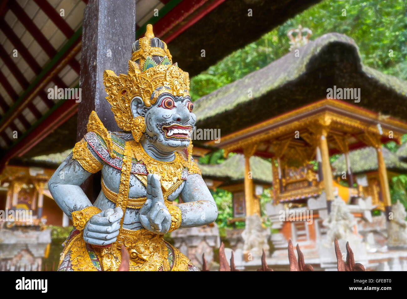 Gott Statue in Pura Gunung Kawi Tempel, Bali, Indonesien Stockbild
