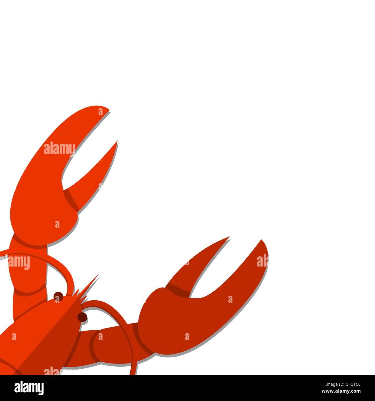 Illustration Cartoon Crayfish Stockfotos & Illustration Cartoon ...