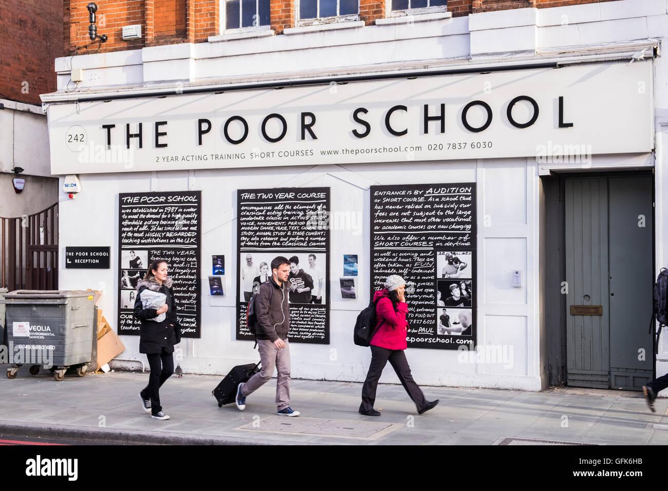 Die Armen Schule handeln College in London, England, U.K Stockbild