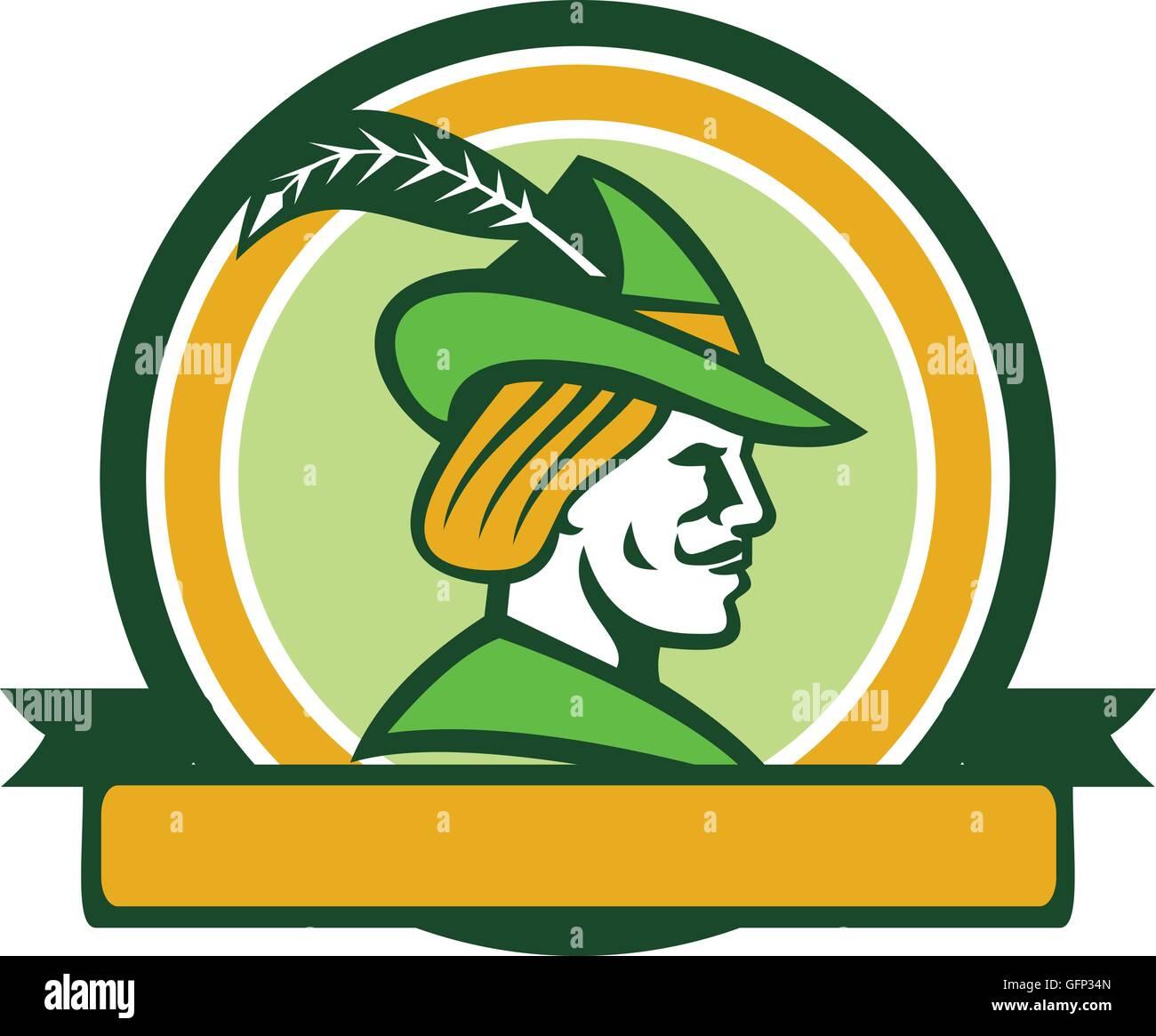 Beispiel Fur Ein Robin Hood Tragen Mittelalterliche Hut Mit Einem