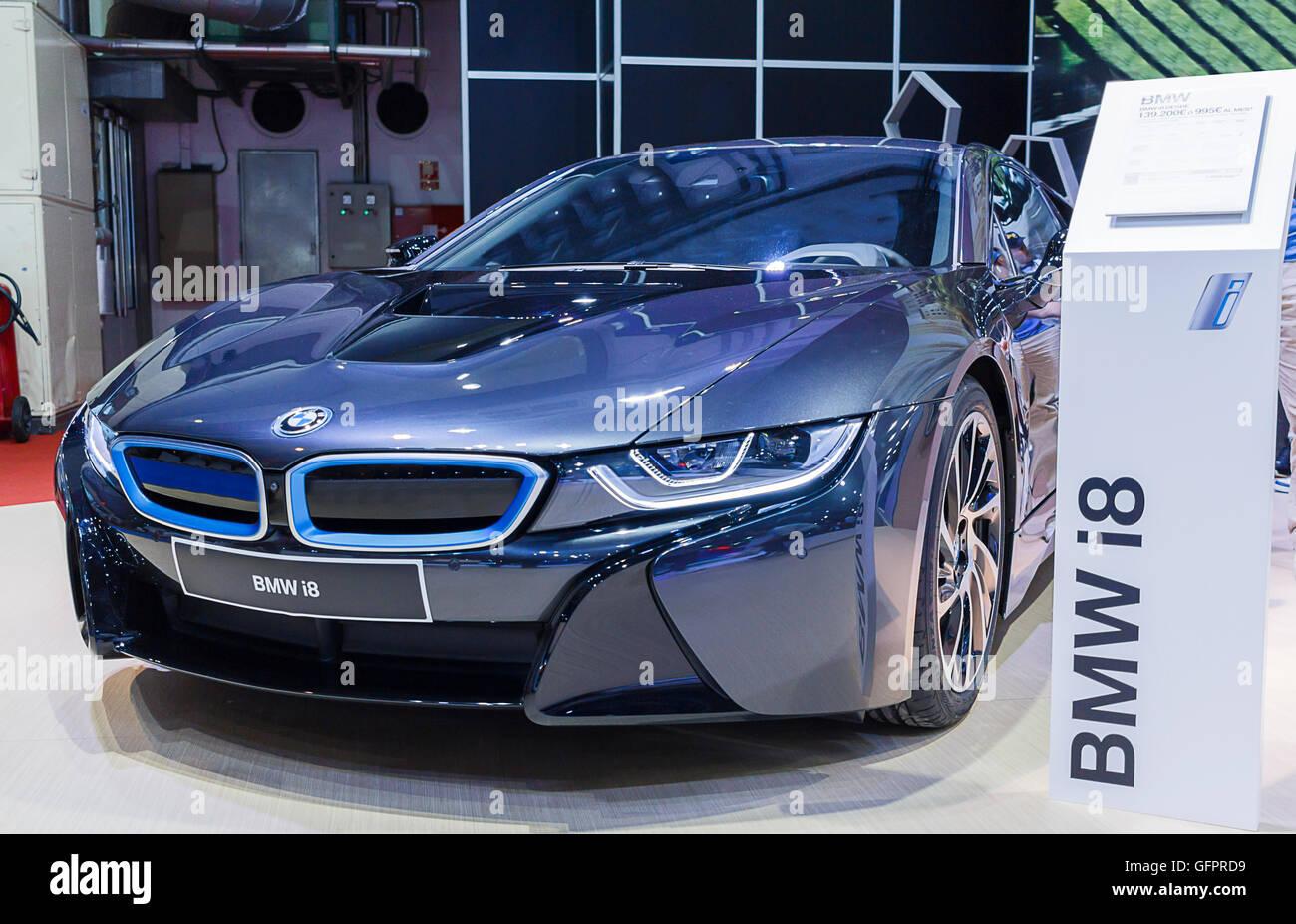 Bmw I8 Elektrisch Betriebene Performance Fahrzeug Stockfoto Bild