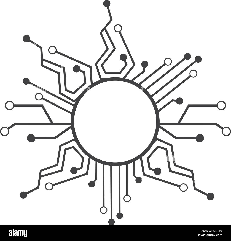 Schaltung elektrischer Technologie Symbol Vektor Abbildung - Bild ...