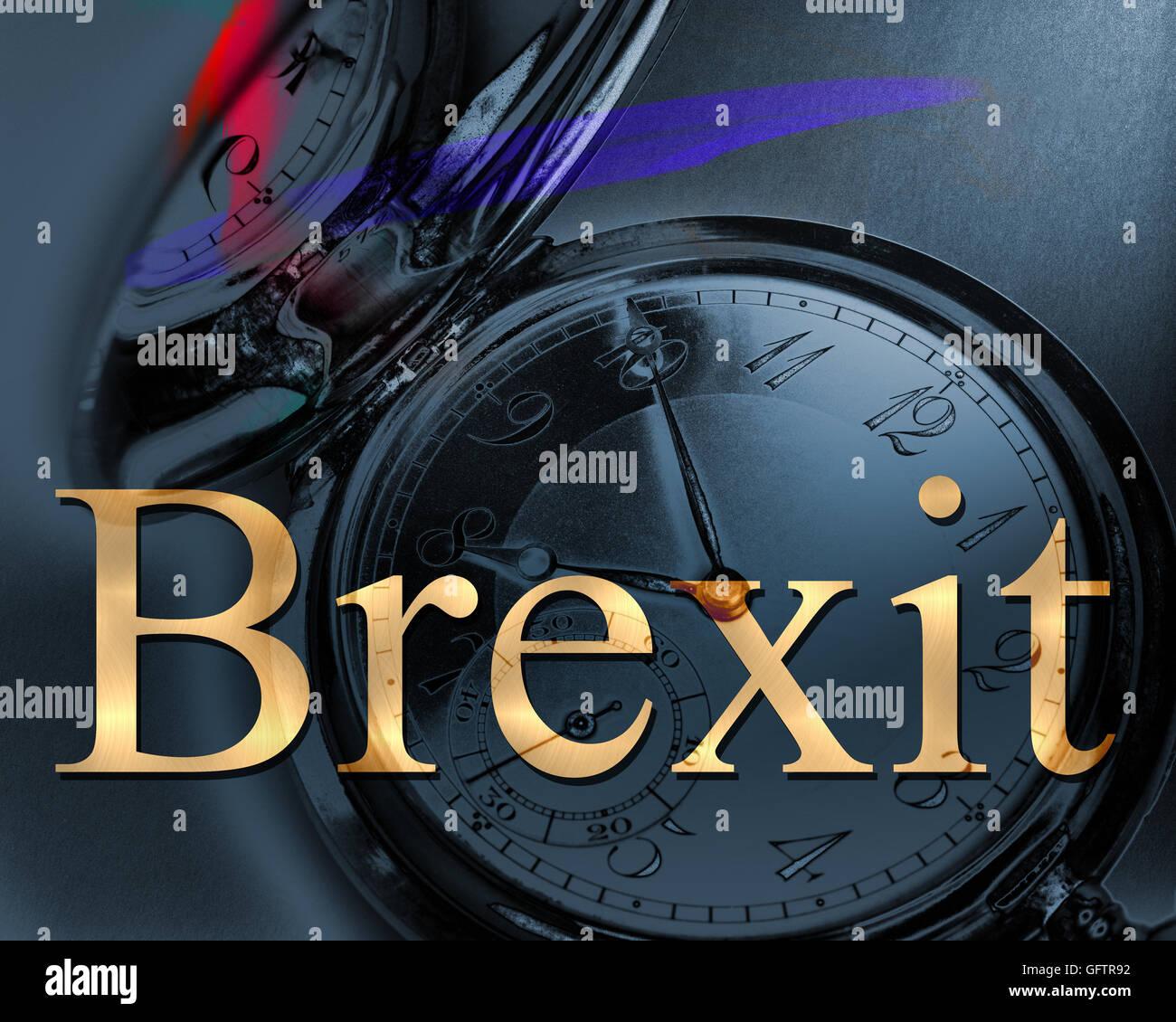 Konzept: Brexit Stockbild