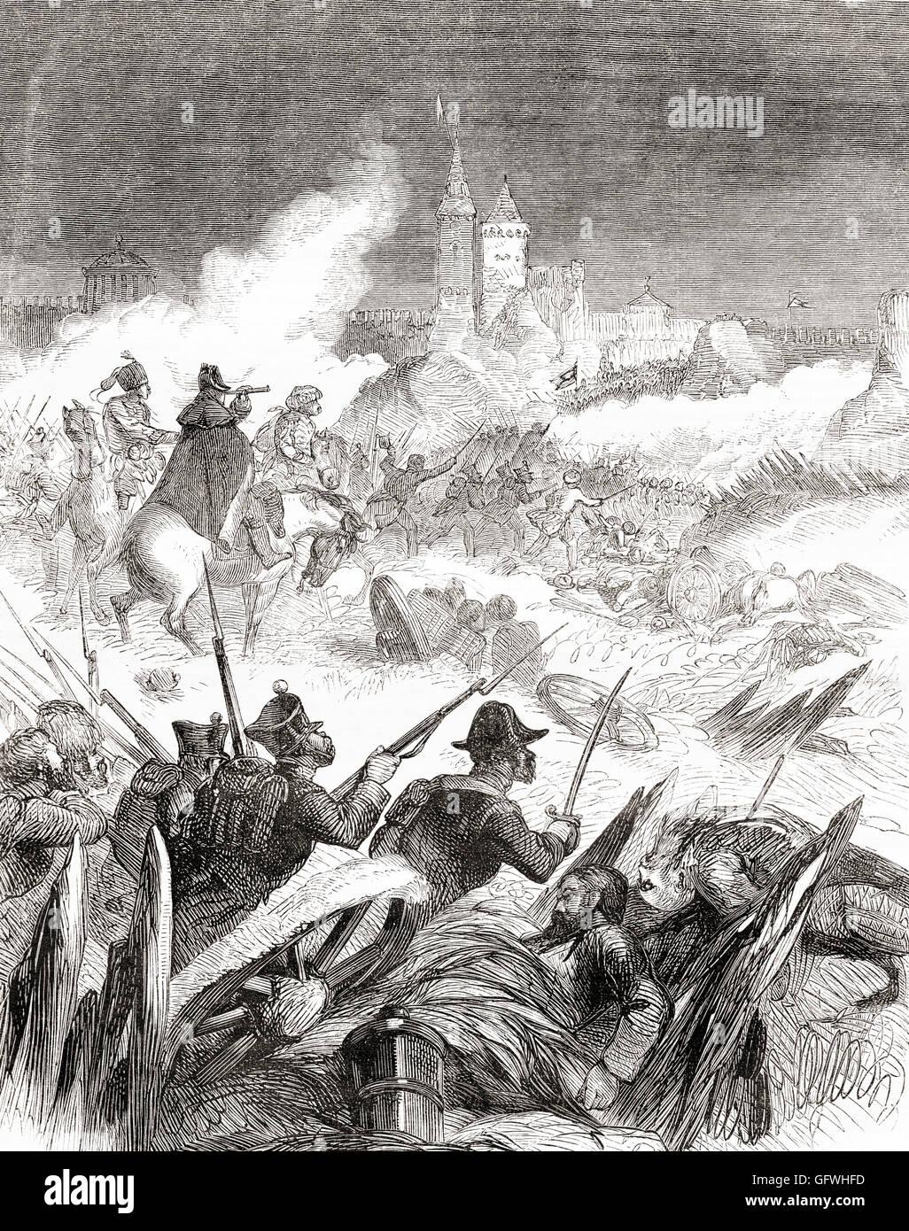 Die Festung Otschakow gefangen genommen von den Russen während des russisch-türkischen Krieges (1787 ? Stockbild