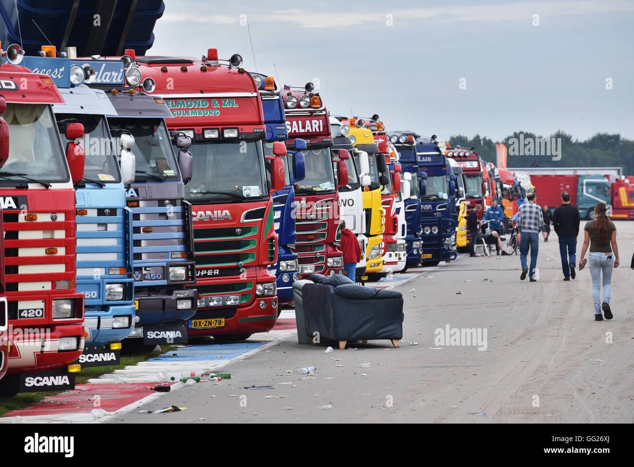 Truckstar Festival ist eine jährliche Veranstaltung auf dem TT Circuit in Assen. Stockbild