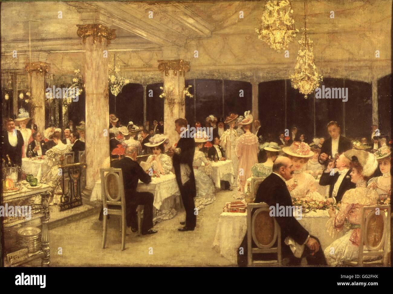 Henri Gervex (1852-1929) französischer Maler Soirée des Grand Prix in Armenonville 1906 Öl auf Leinwand, Stockbild