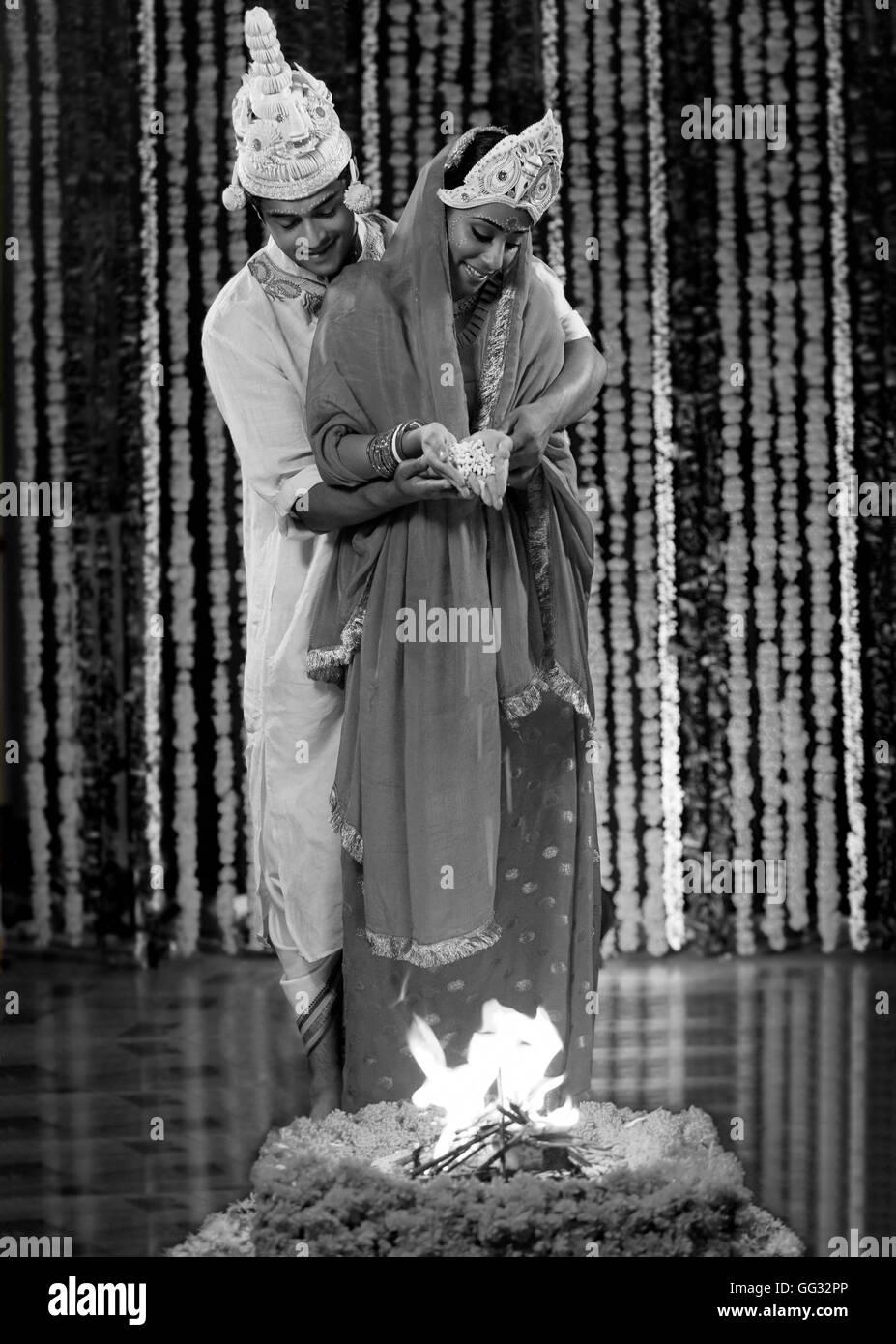 Indische Hochzeitszeremonie Stockfoto Bild 113164766 Alamy