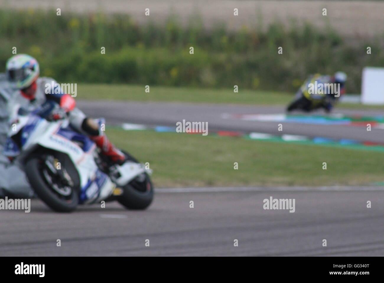 Motorsport in Thruxton Stockbild