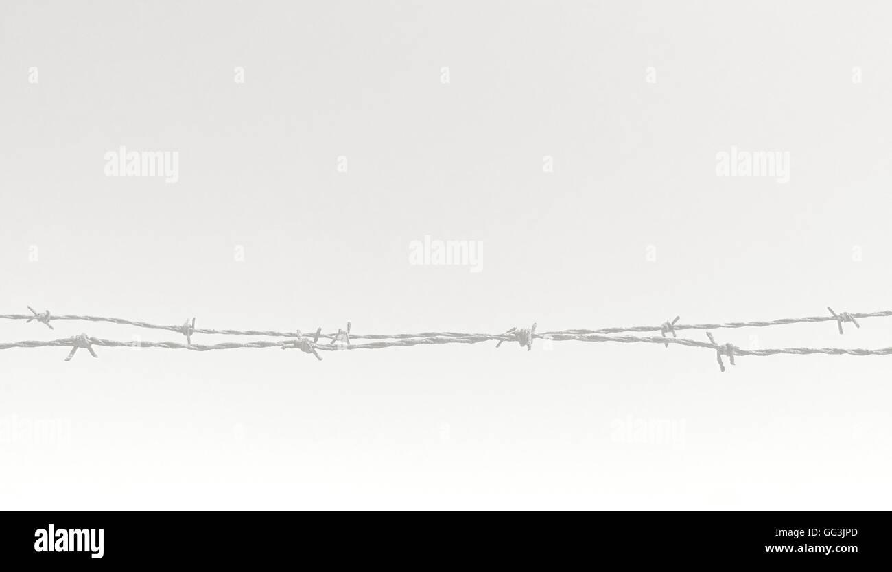 Rostiger Stacheldraht Zaun Closeup horizontale Bildkonzept für ...
