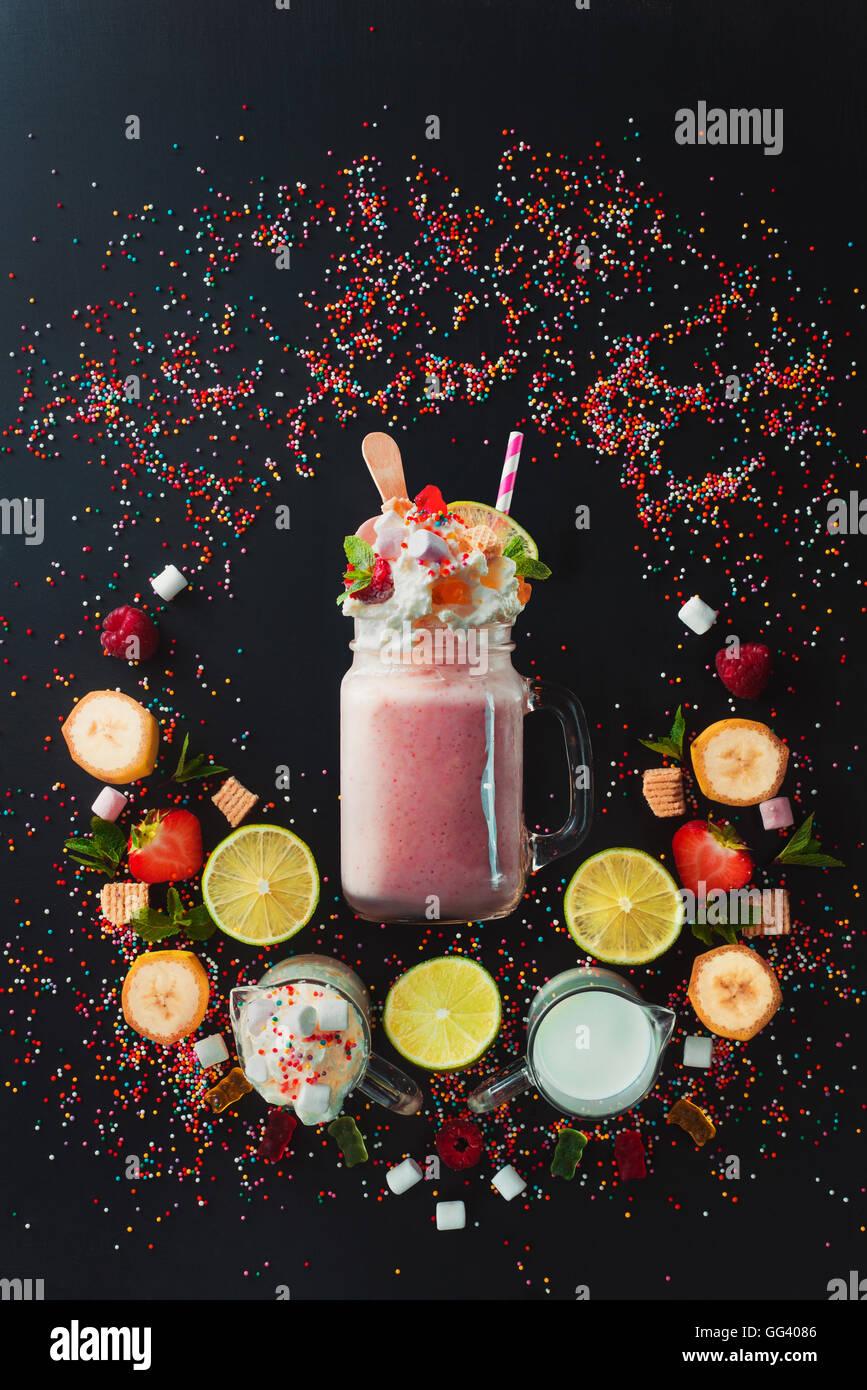 Milkshake-Vignette Stockbild