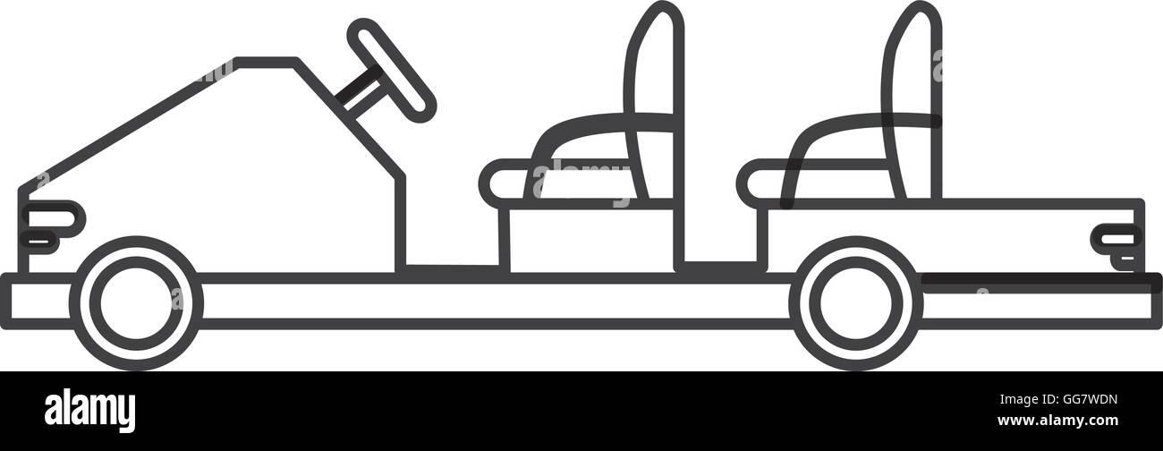 elektrische Flughafen Passagier Auto-Symbol Vektor Abbildung - Bild ...