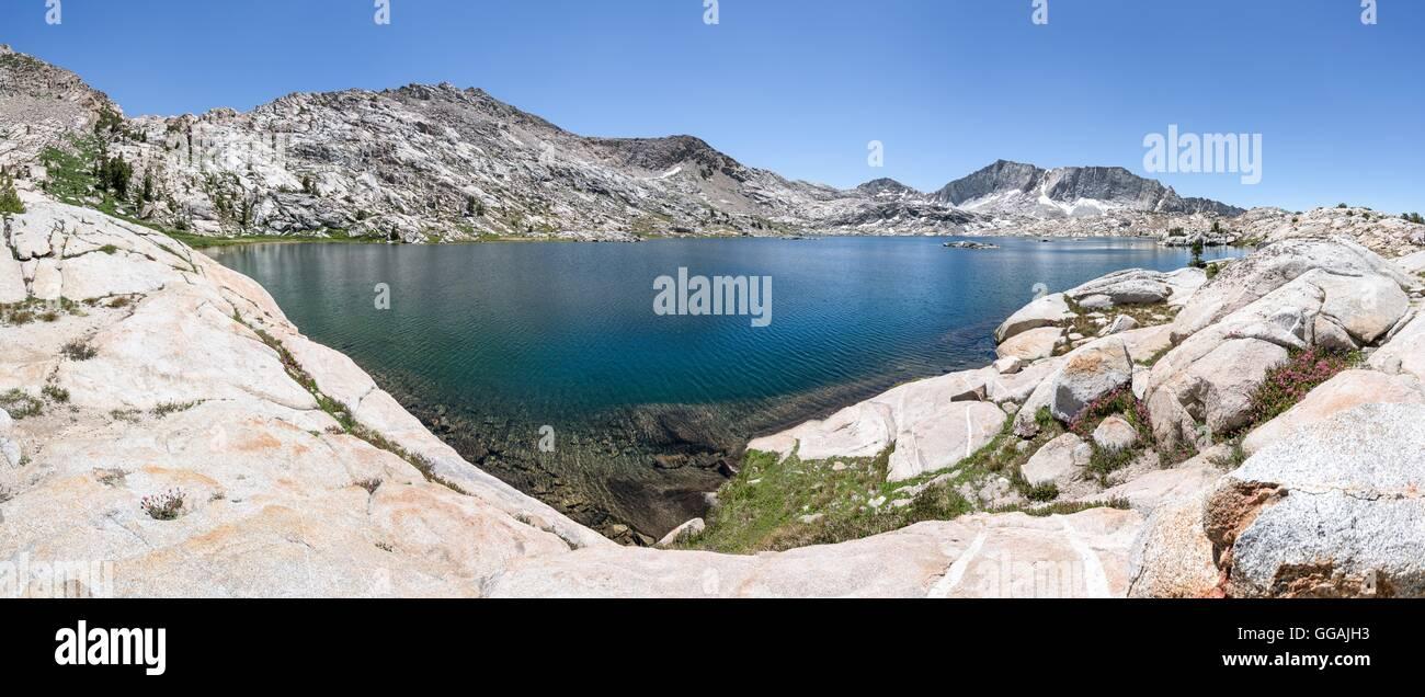 Auf jeden Fall die Hölle See, Sierra National Forest, Kalifornien, Vereinigte Staaten von Amerika, Nordamerika Stockbild