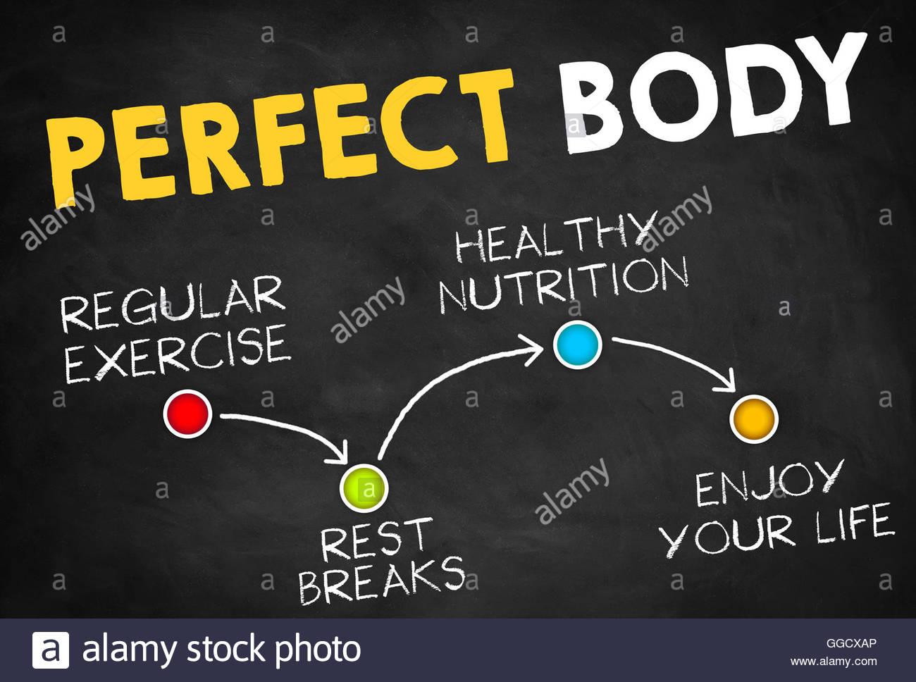Perfekten Körper Stockbild