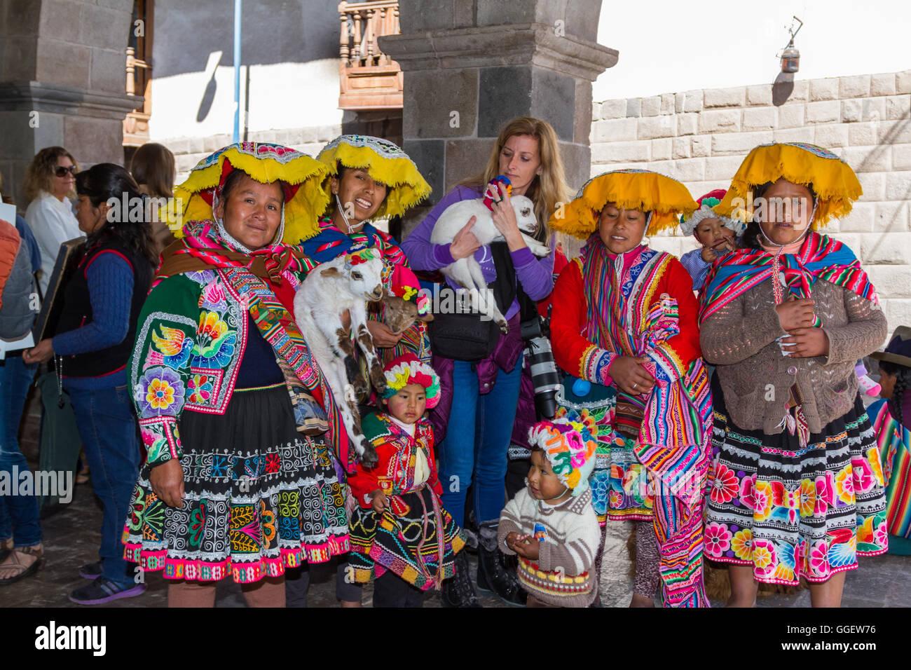 Schöne Frauen von Peru