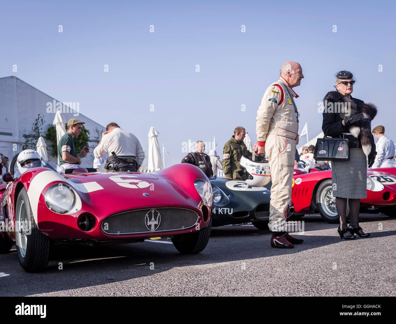 Sussex Trophy, Goodwood Revival 2014, Rennen, Autorennen, Oldtimer, Chichester, Sussex, Vereinigtes Königreich, Stockfoto